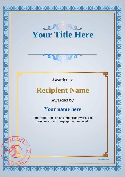 certificate-template-javelin-classic-5bjsr Image