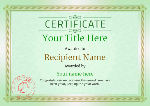 certificate-template-kite-surfing-classic-4gksr Image