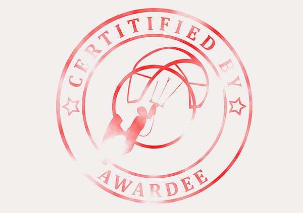 certificate-template-kite-surfing-modern-3-grey-bksr Image