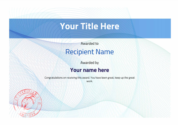 certificate-template-kite-surfing-modern-3bksr Image
