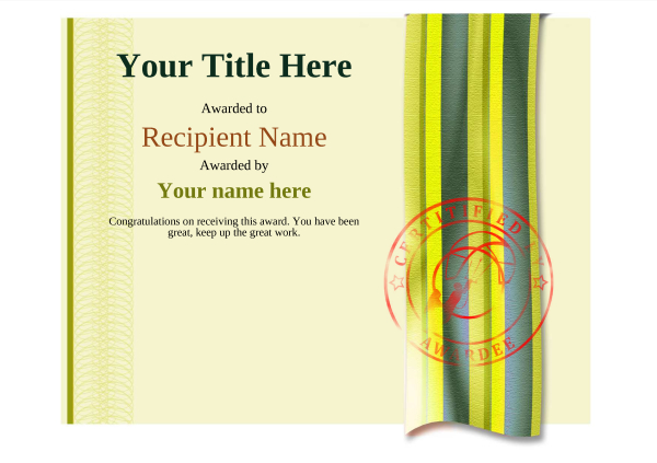 certificate-template-kite-surfing-modern-4yksr Image