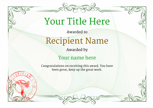 certificate-template-martial-arts-classic-2gmsr Image