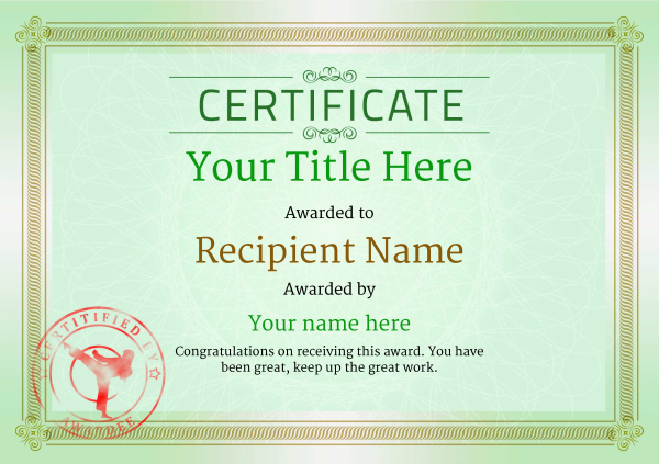 certificate-template-martial-arts-classic-4gmsr Image