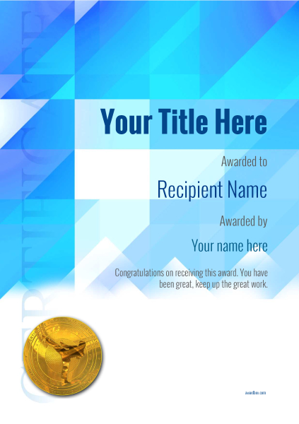 certificate-template-martial-arts-modern-2bmmg Image