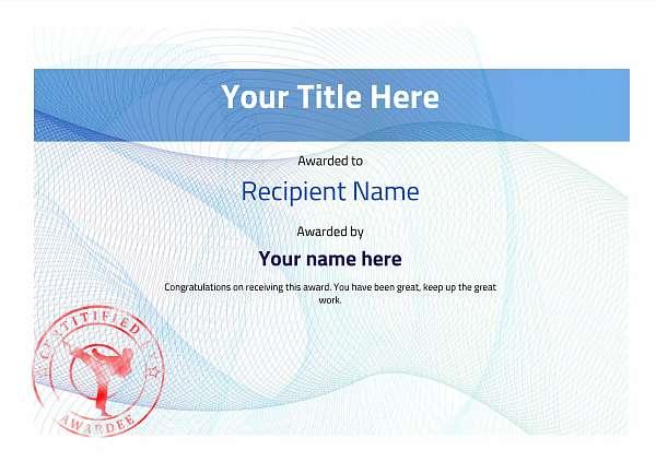 certificate-template-martial-arts-modern-3bmsr Image