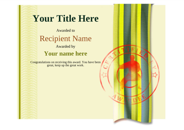 certificate-template-martial-arts-modern-4ymsr Image