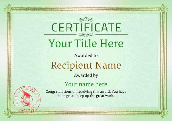 certificate-template-mountain-bike-classic-4gmsr Image