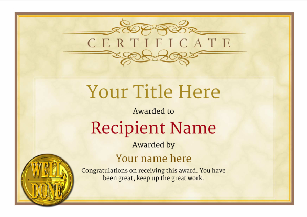 certificate-template-parachuting-classic-1ywnn Image