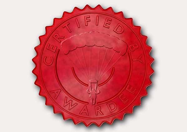 certificate-template-parachuting-classic-2-grey-bpsr Image