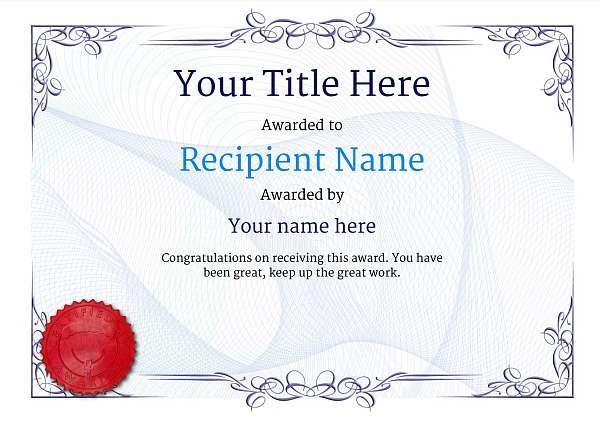certificate-template-parachuting-classic-2bpsr Image