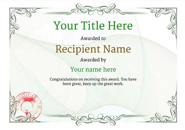 certificate-template-parachuting-classic-2gpsr Image