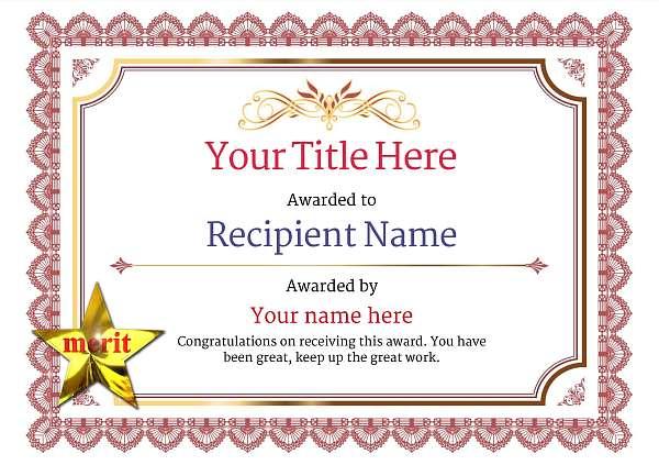 certificate-template-parachuting-classic-3rmsn Image