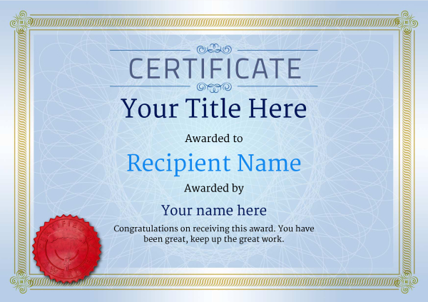 certificate-template-parachuting-classic-4bpsr Image