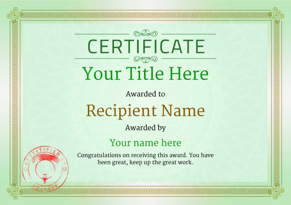 certificate-template-parachuting-classic-4gpsr Image