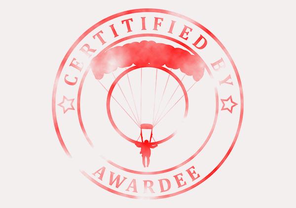 certificate-template-parachuting-classic-5-grey-bpsr Image