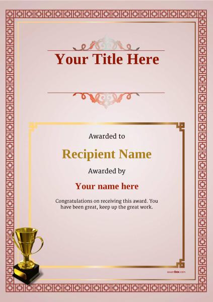 certificate-template-parachuting-classic-5rt4g Image