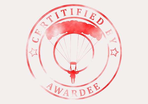 certificate-template-parachuting-modern-3-grey-bpsr Image