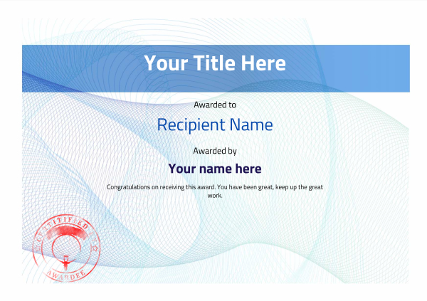 certificate-template-parachuting-modern-3bpsr Image