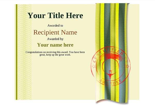 certificate-template-parachuting-modern-4ypsr Image