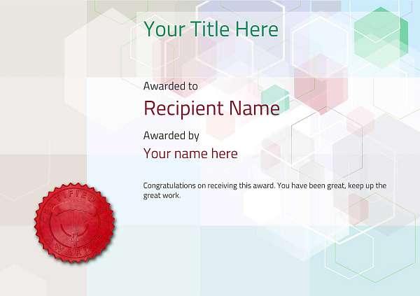 certificate-template-parachuting-modern-5dpsr Image