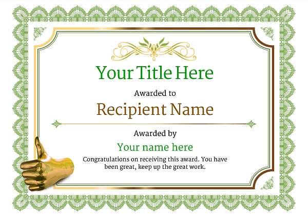 certificate-template-pommel-classic-3gtnn Image