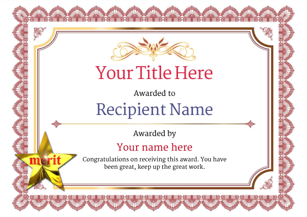 certificate-template-pommel-classic-3rmsn Image