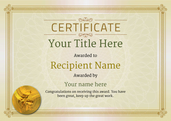 certificate-template-pommel-classic-4dpmg Image