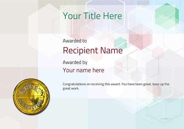 certificate-template-pommel-modern-5dcmg Image