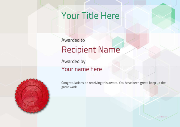 certificate-template-pommel-modern-5dpsr Image