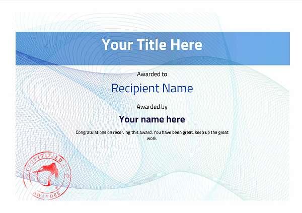 certificate-template-pool-snooker-modern-3bpsr Image