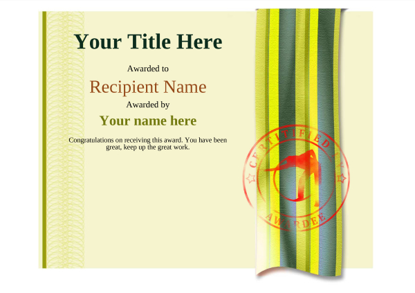 certificate-template-pool-snooker-modern-4ypsr Image
