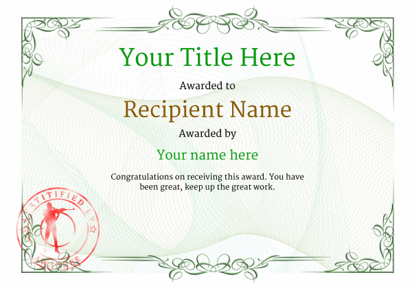 certificate-template-rifle-shooting-classic-2grsr Image