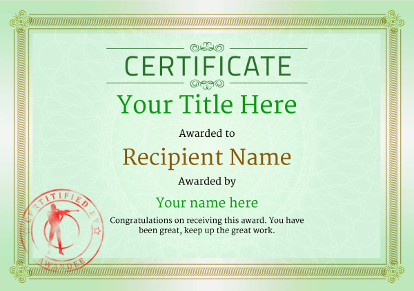 certificate-template-rifle-shooting-classic-4grsr Image