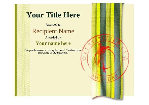 certificate-template-rifle-shooting-modern-4yrsr Image