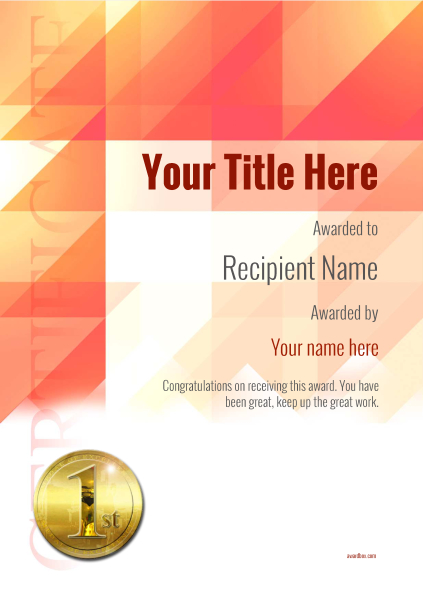 certificate-template-road-racer-modern-2r1mg Image
