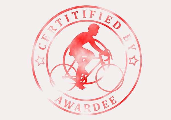 certificate-template-road-racer-modern-3-grey-brsr Image