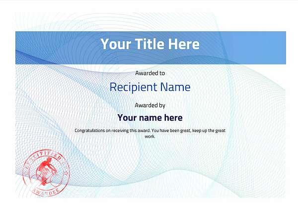 certificate-template-road-racer-modern-3brsr Image