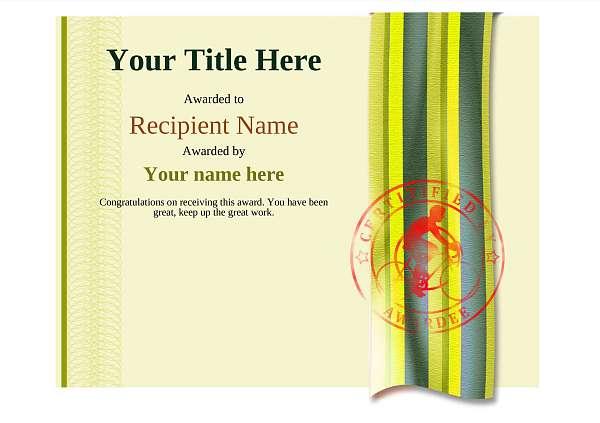 certificate-template-road-racer-modern-4yrsr Image