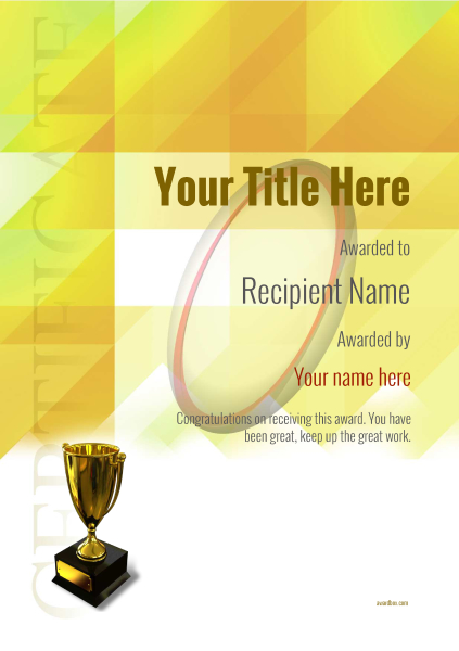 certificate-template-rugby-modern-2yt5g Image