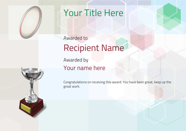 certificate-template-rugby-modern-5dt6s Image