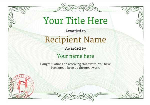 certificate-template-rumba-classic-2grsr Image