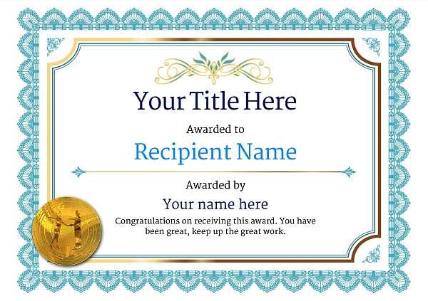 certificate-template-rumba-classic-3brmg Image