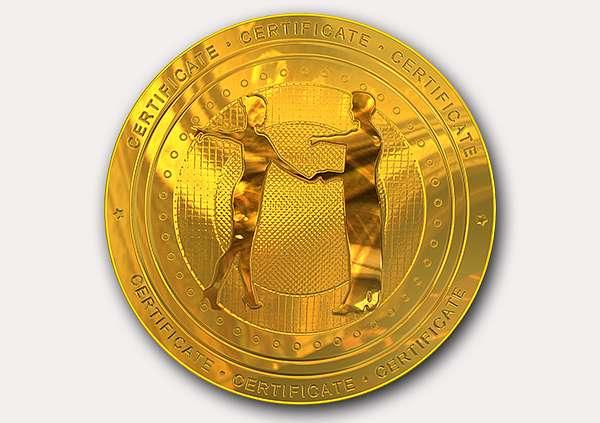 certificate-template-rumba-classic-4-grey-drmg Image