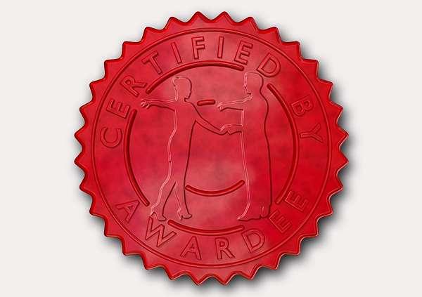 certificate-template-rumba-modern-3-grey-grsr Image