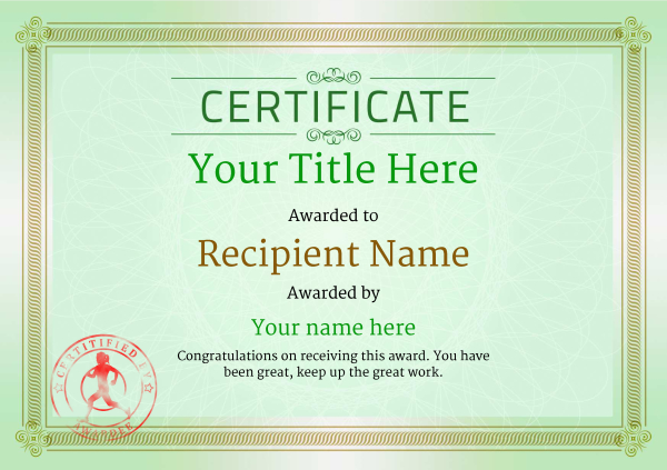certificate-template-running-classic-4grsr Image