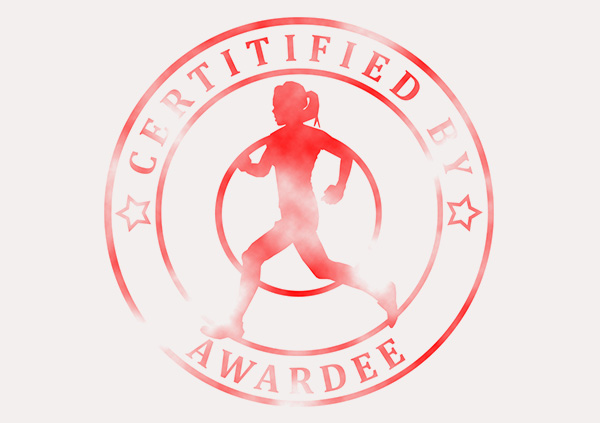 certificate-template-running-modern-3-grey-brsr Image
