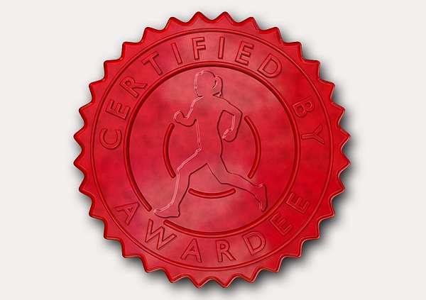 certificate-template-running-modern-5-grey-drsr Image