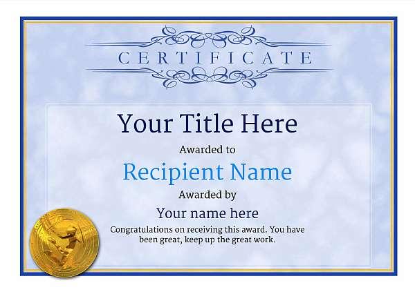 certificate-template-rythmic-gymnastics-classic-1brmg Image