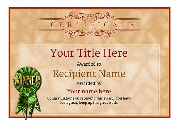 certificate-template-rythmic-gymnastics-classic-1dwrg Image