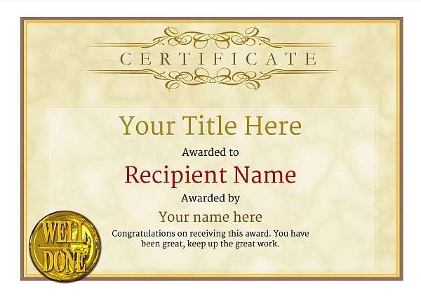 certificate-template-rythmic-gymnastics-classic-1ywnn Image
